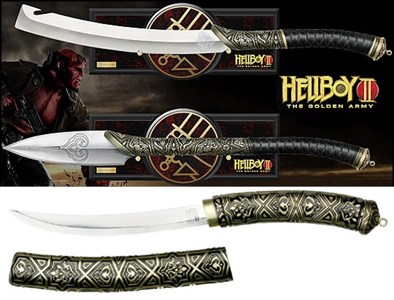 Hellboy 2: the golden army prince nuada sword, spear and dagger prop