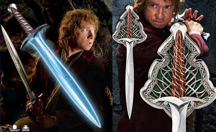 S0645 Lord of The Rings Frodo Sting Hobbit Bilbo Baggins ...  The Hobbit Bilbo Sword