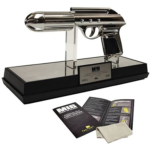 MEN IN BLACK J2 Standard Issue Agent Sidearm Prop Weapon Replica Factory Entertainment