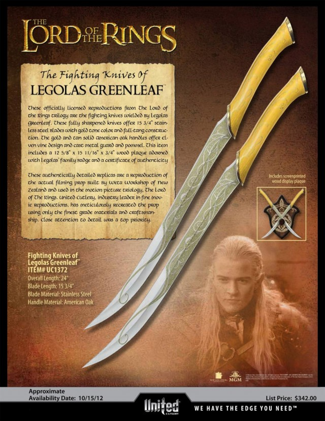 THE-LORD-OF-THE-RINGS-Legolas-Greenleaf-Fighting-Knives-United-Cutlery