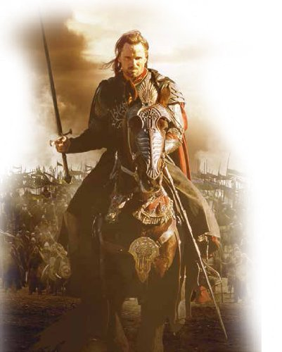 Aragorn wields the Sword of King Elessar