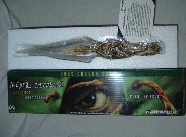 JEEPERS CREEPERS 2 Bone Dagger Series Screamer Dagger Replica Factory X